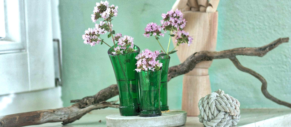 DIY-Vase mit Beton und Glas