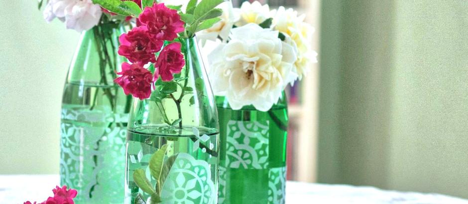 DIY-Vasen aus Glasflaschen