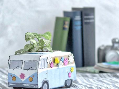 DIY-Pflanzentopf im Buslook