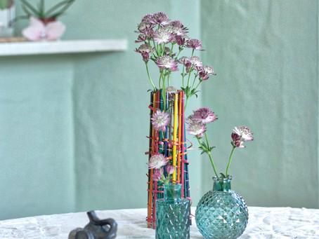 Bastelstroh trifft Vase