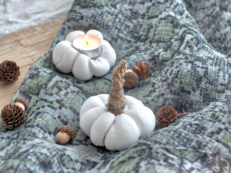 Herbstdeko: DIY Kürbisse aus Gips