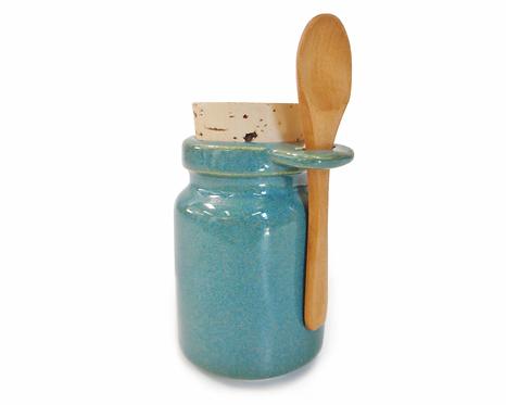 Salt Storage Jar wtih Mineral Sea Salt