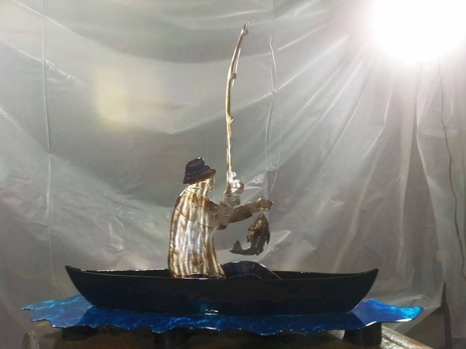 Fisherman in a Canoe