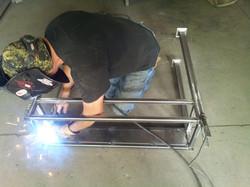 Lar welding the table frame