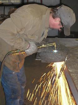 Lar Cutting w oxy/ acetylene torch