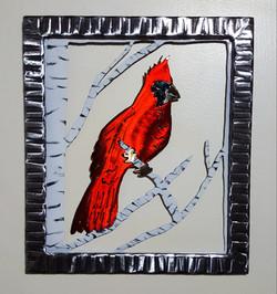 Framed Cardinal in a Birch