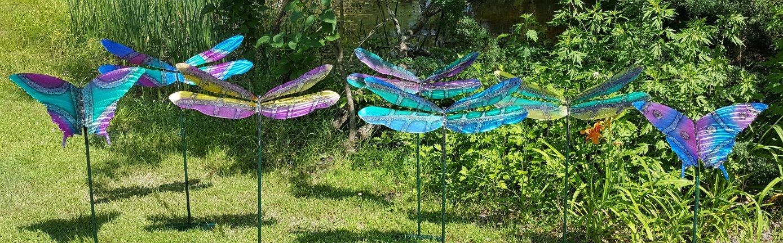 Row of New Colored Dflies/ Bflies