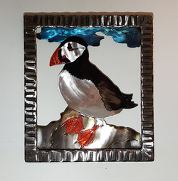 Framed Atlantin Puffin