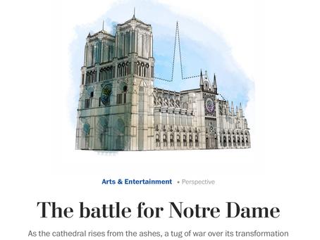 « La bataille de Notre-Dame » selon le Washington Post