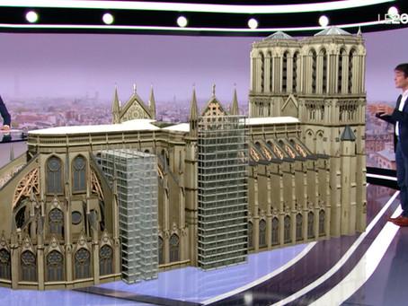 Les étaiements extraordinaires des voutes de Notre-Dame de Paris