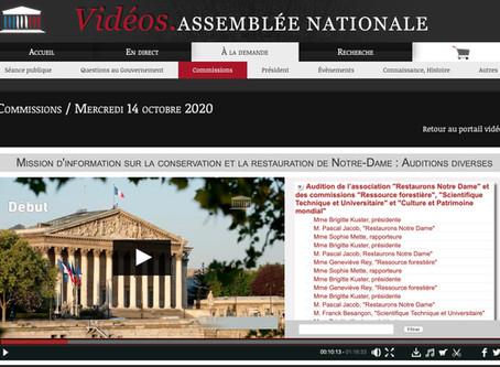 Audition de Restaurons Notre-Dame par la mission Notre-Dame de l'assemblée Nationale