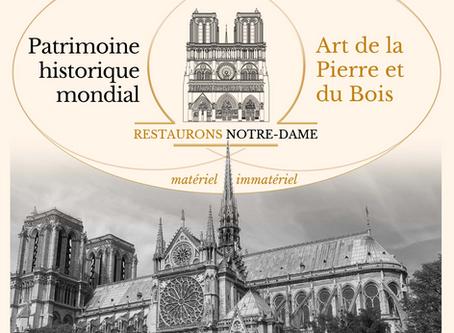 Restaurons Notre-Dame lance sa commission Culture, Patrimoine & Art de la Pierre et du Bois