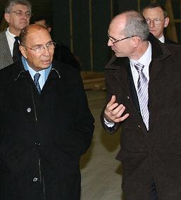 Serge Dassault et Pascal Jacob Pdg du Groupe Jacob