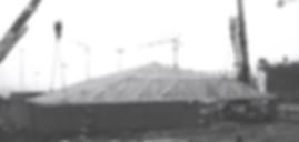 Circuit de Nevers Magny Cours : Charpente du local des F1 Jacob Structures Bois (1989)