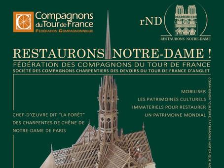 « RESTAURONS NOTRE-DAME ! » exposition évènementielle au Salon International du Patrimoine Culturel