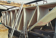 Transport exceptionnel de charpentes industrielles jacob structures bois