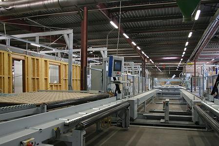 Chaine de production de maiusns à ossature bois Pobi Groupe Jacob