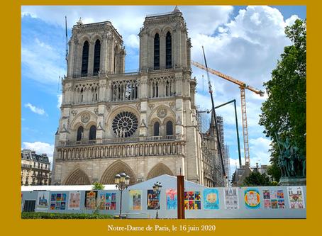 Etats photographiques mensuels de la cathédrale Notre-Dame de Paris (16 juin 2020)