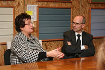 Christine Boutin, Ministre du Logement et Pascal Jacob, PDG Groupe Jacob