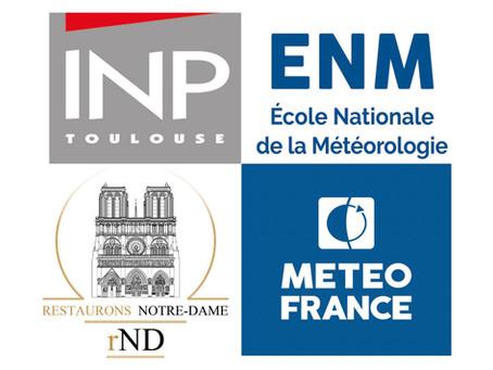 L'Ecole Nationale de Météorologie participe au programme universitaire de Restaurons Notre-Dame