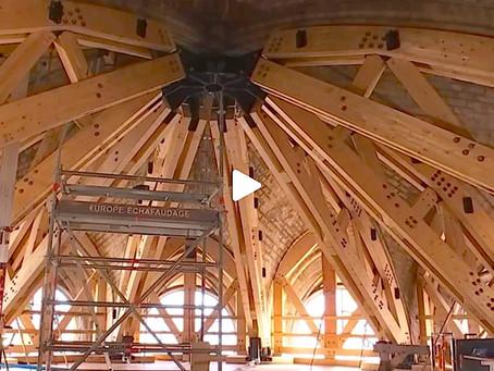 Les bois techniques et la mixité des matériaux (bois & métal) au secours des voutes de Notre-Dame