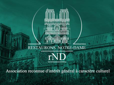 l'Association Restaurons Notre-Dame reconnue d'intérêt général à caractère culturel