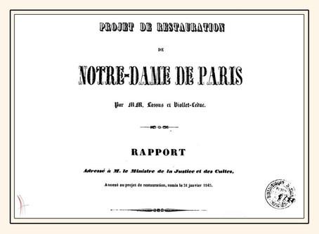 Restauration de Notre-Dame : Le rapport de Lassus et Viollet-Le-duc de 1843 disponible sur Gallica