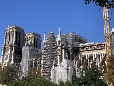 Etats photographiques mensuels de la cathédrale Notre-Dame de Paris (16 août 2020)