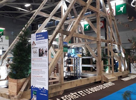 Notre-Dame de Paris au Salon International de l'Agriculture sur le stand de France Bois Forêt