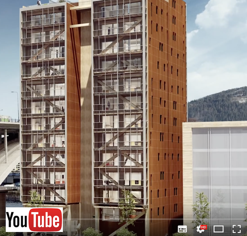 Image pointant vers la vidéo Bergen Project - The Design and Construction of the World's First 14-Story Wood Building