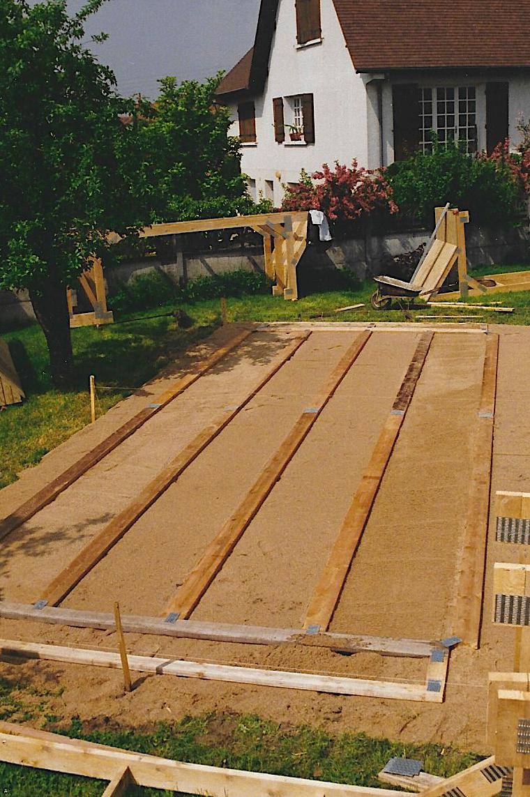 Piscine hors sol à ossature bois