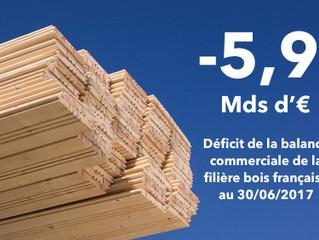 Filière bois : le déficit commercial sur un an s'établit à 5,9 milliards d'euros