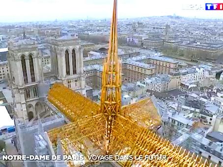 Réalité augmentée pour la charpente de Notre-Dame (TF1)