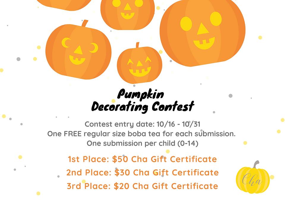 Cha For Tea Pumpkin Decorating Contest