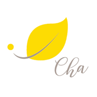 Cha For Tea Yellow Leaf Logo.
