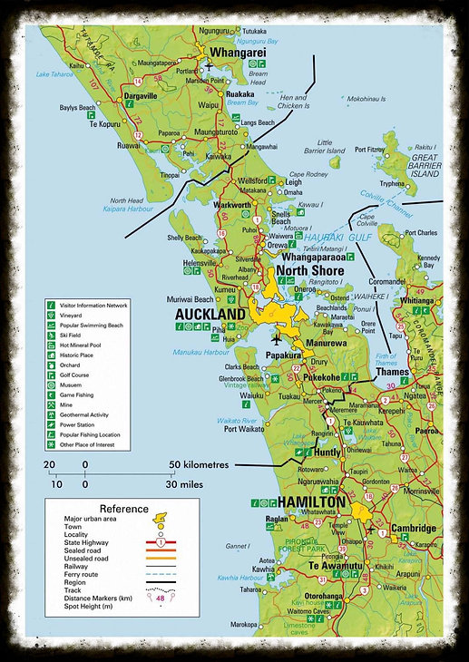 New Zealand Tourist Map North Island.Auckland Map North Island New Zealand New Zealand Auckland