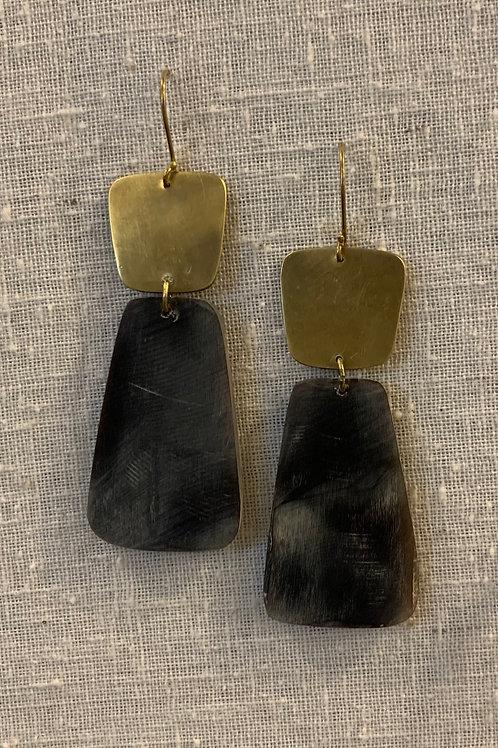 Brass & Leucadia Earrings
