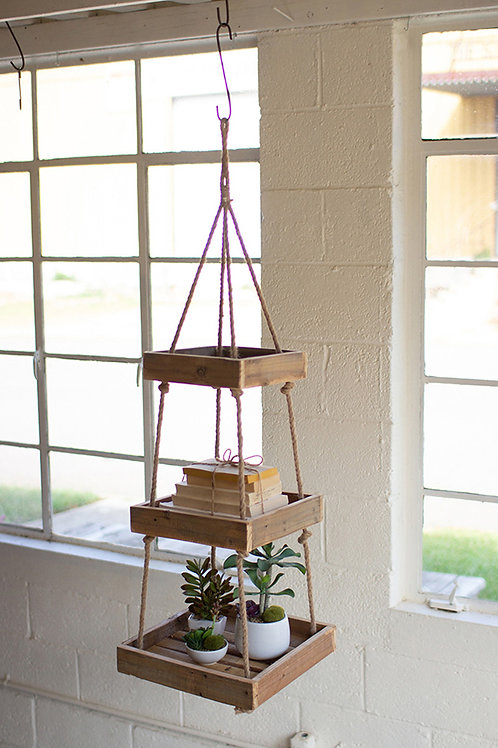 Hanging Three Tiered Square Recycled Display
