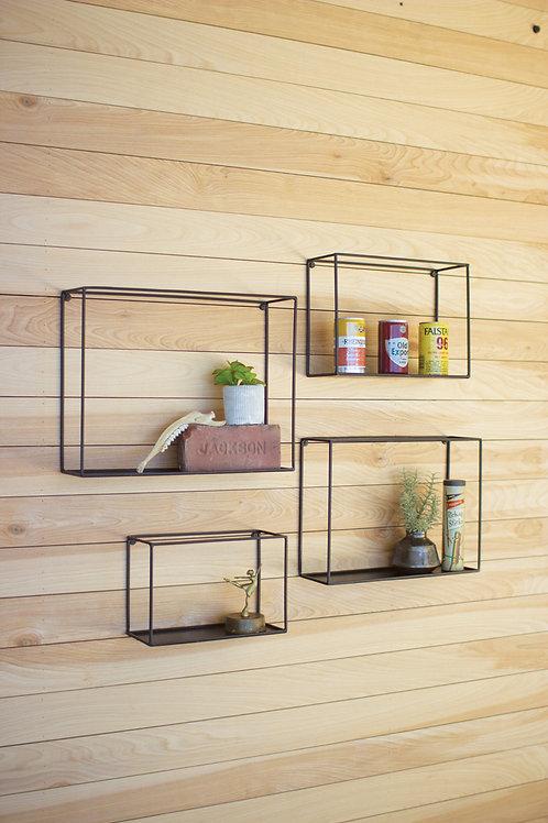Black Wall Shelves - Set of 4