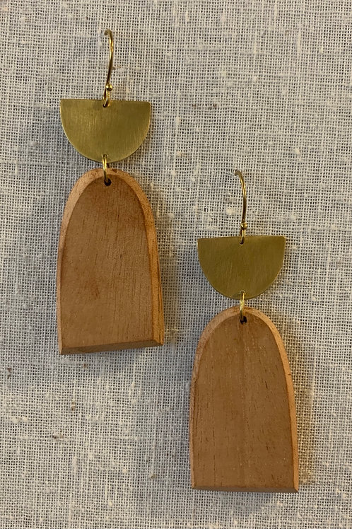 Brass & Leucadia Earrings