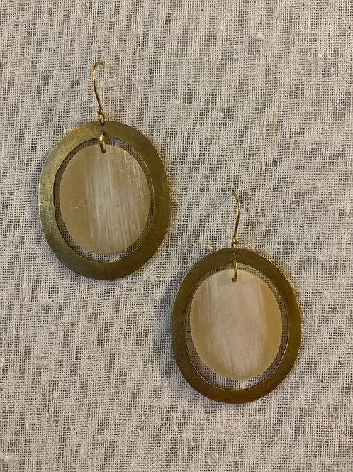 BanjarFloating Oval Earrings