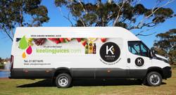 Keeling Juice Van Signage Design