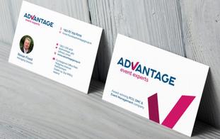 Advantage Logo and Business Card