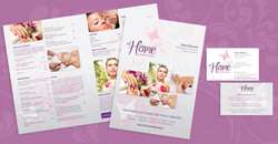 at home pampering printed collateral