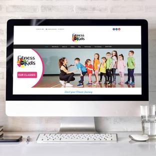 Fitness For Kids website design