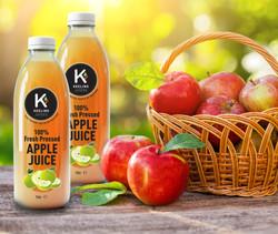 Keeling Juice Apple Juice Label Design