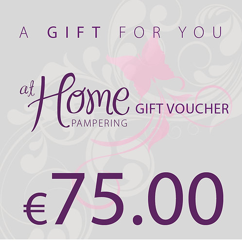 75.00 euro At Home Pampering Voucher