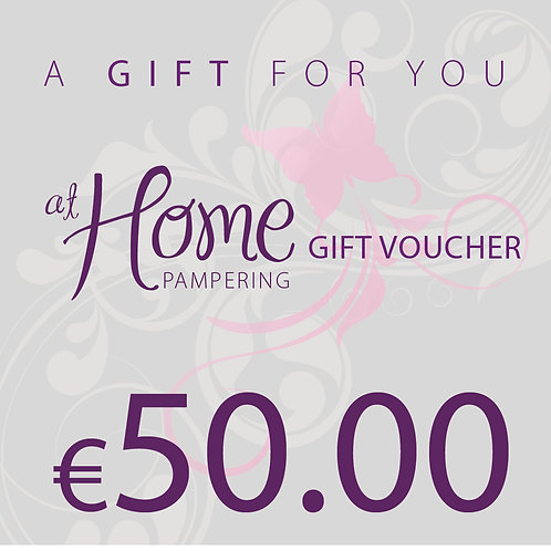 50.00 euro At Home Pampering Voucher