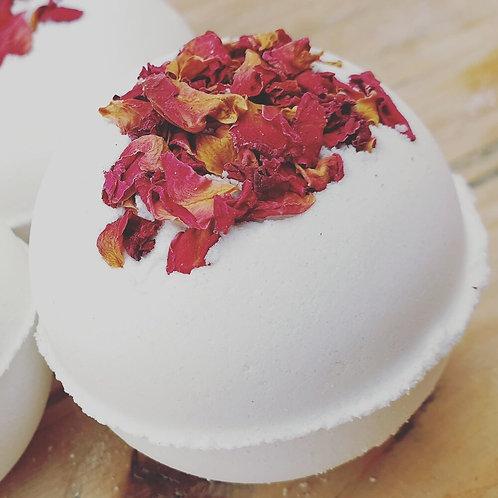 Rose and Geranium At Home Pampering Bath Bomb