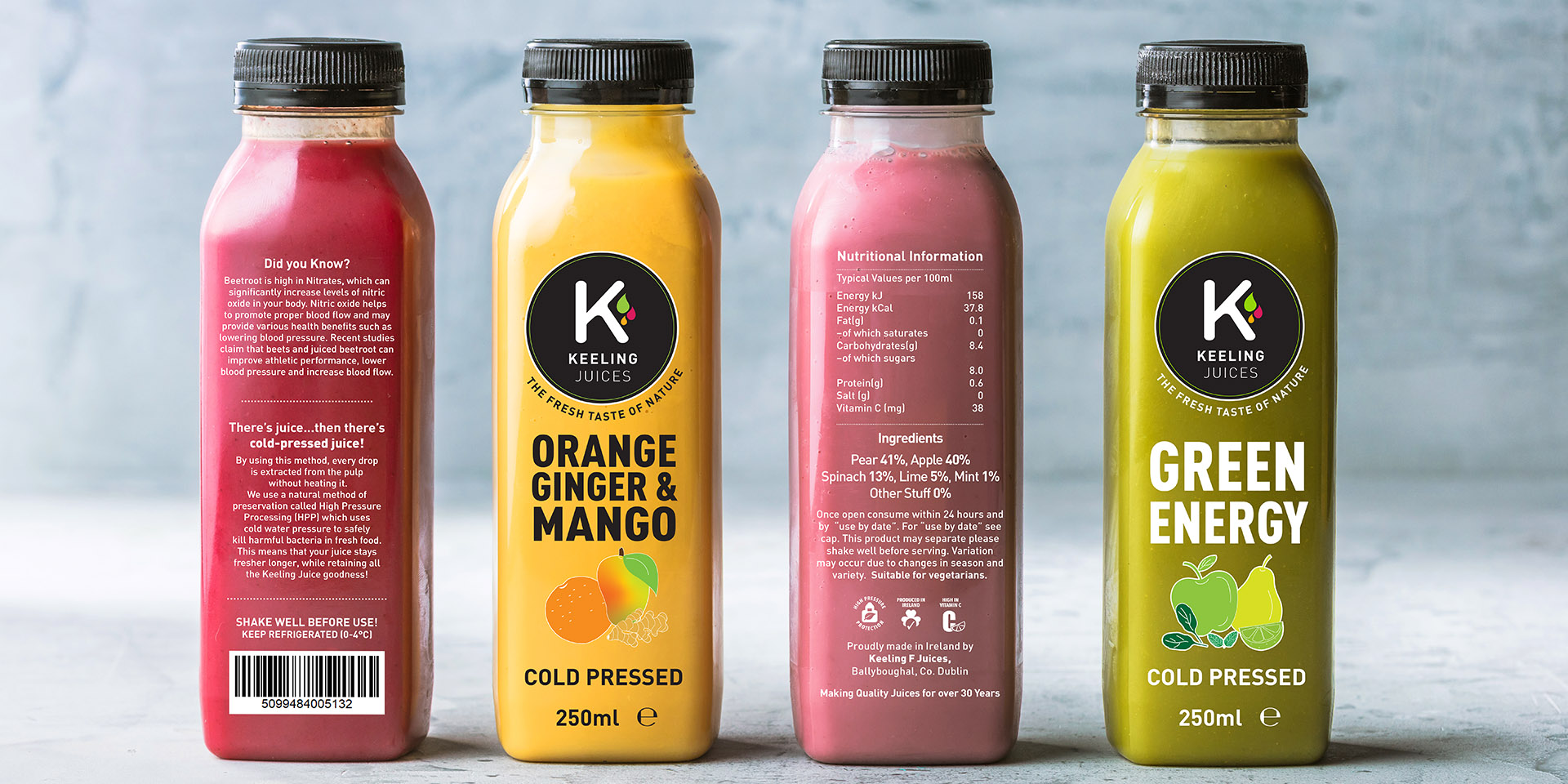 Keeling Juices Product Design